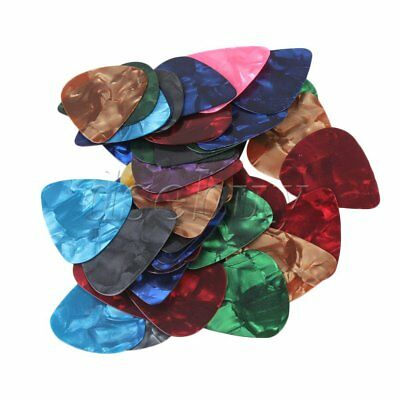 50x Guitar Picks Pick Plectrum Celluloid thin light 0.46mm