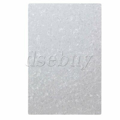 3ply Blank White Pearloid 29cm x 43cm Guitar scratch plate sheets