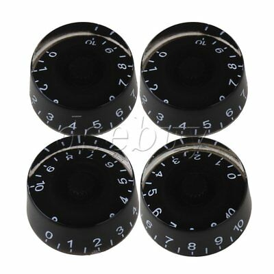 1 Set of 4 Black Speed Control Knob For Vintage Electric Guitar