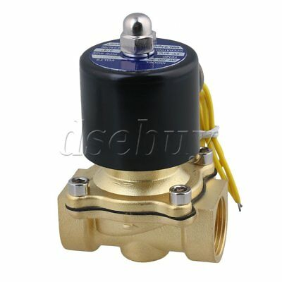 "AC 110V 3/4"" Electric Solenoid Valve Gas Water Fuels Air Black"