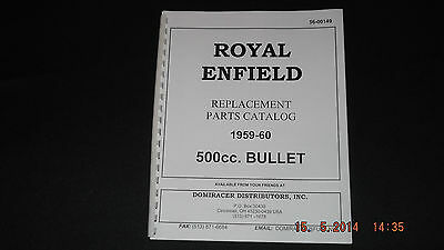 Royal Enfield 1959-60 500cc Bullet Parts Cat 00149 [3-54]