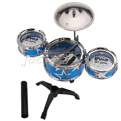 Blue Cute Mini Durable Children Drum Set Kids Play Music Toy Cultivate Character