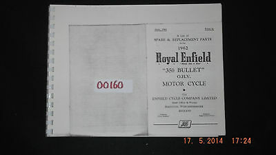 Royal Enfield 1962 350 Bullet Parts List 00160 [3-10-1]