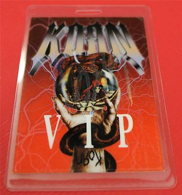 Vintage KORN Take a Look in the Mirror Tour VIP Laminated Backstage Pass FOIL
