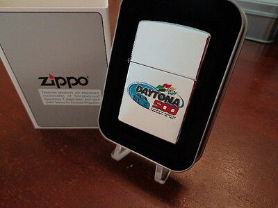 Daytona 500 Nascar Zippo Lighter Mint In Box 1997 High Polish Chrome