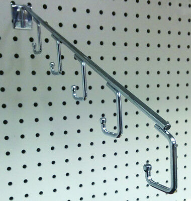 Pegboard 5 Hook Waterfall Faceout Clothes Hanger Clothing Display - 10 Pieces