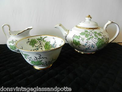 Rare Royal Chelsea Butterfly  Tea Set Cups Saucer Teapot Sugar Creamer And More