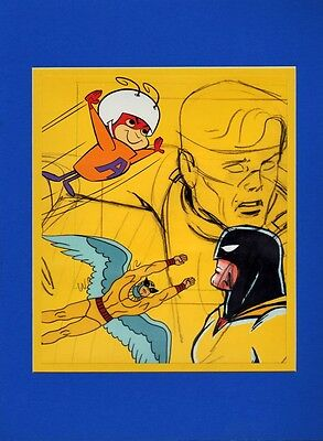 SPACE GHOST BIRDMAN & ATOM ANT COLLAGE Professionally Matted Print HB