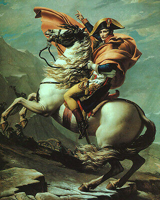 """Art oil painting horseman Emperor of the French Napoleon crossing the Alps 36"""""""