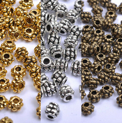 Wholesale Tibetan Silver, Gold, Bronze, Loose Charms Spacer Beads 4X4MM A1028