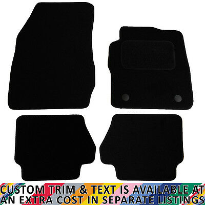 Ford Fiesta MK7 2011+ Fully Tailored 4 Piece Car Mat Set with 2 Round Clips