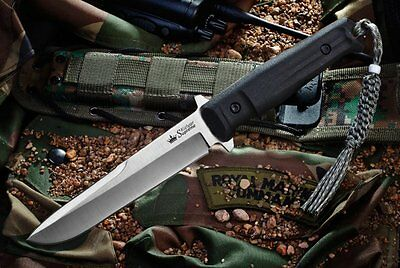 Kizlyar Supreme Trident AUS-8 Satin Fixed Blade Hunting Knife Made in Russia