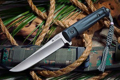 Kizlyar Supreme Croc D2 Satin Steel Fixed Blade Tactical Quality Knife Russian