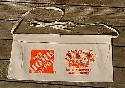 The Home Depot Canvas 2 Pocket Apron America's Original Do-It Yourself Warehouse