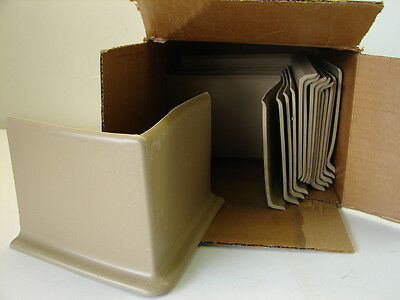 "Burke Flooring Molded Rubber Corners 4"" Isos 5"" Wing Ginger (Lot Of 15) **nib**"
