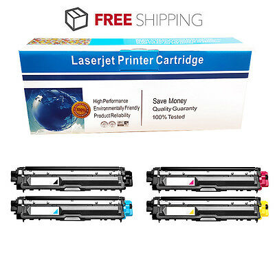4Pk TN221 Color TN225 Bk Toner For Brother MFC-9130CW, MFC-9330CDW, MFC-9340CDW