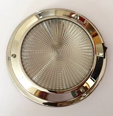 LED Dome light 12V 140MM Base Interior Stainless Steel Boat Chandlery/Boat/Yacht