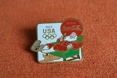 10660 Pin's Pins Jo Olympic World Games 1964 Usa Coca Cola Pere Noel Santa Klaus