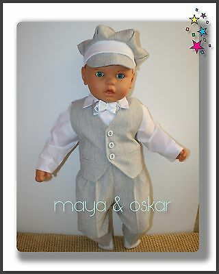Baby Boy Grey Outfit Smart Wedding Formal Party Suit Christening Baptism 0-24m