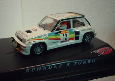 qq SPIRIT 0500602 RENAULT 5 TURBO RALLY RACE COSTA BLANCA No 12 CARLOS SAINZ