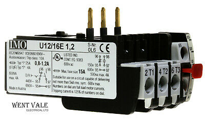 IMO OL02C - U12/16E 1.2. - 0.8 to 1.2 amp Thermal Overload Relay Un-used.