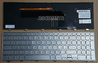 Brand new for Dell Inspiron 15 7000 Series 7537 Keyboard Backlit US SILVER