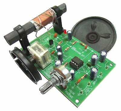 """AM Radio Experiment Circuit board 6VDC with free 2.5"""" speaker [ Assembled kit ]"""