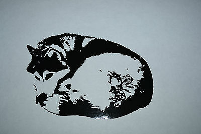 FUNNY BORN TO BE LAZY SIBERIAN HUSKY STICKER DECAL SLED DOG HUSKIES SIBES  DOGS