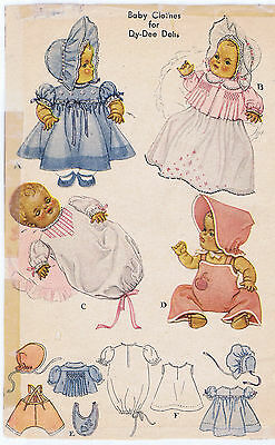 """13"""" Vintage Year 1956 Chubby Baby Doll Pattern 713"""
