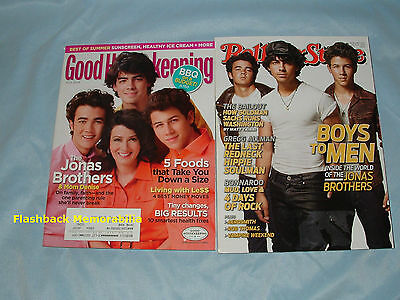 JONAS BROTHERS (2) MAGAZINE LOT 2009 Rolling Stone & Good Housekeeping COVERS