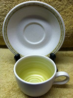 Vintage Franciscan Hacienda Green Earthenware Cup and Saucer Set USA More Avail