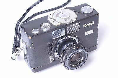 Rollei B35 With 40Mm 3.5 Triotar With Wrist Strap.