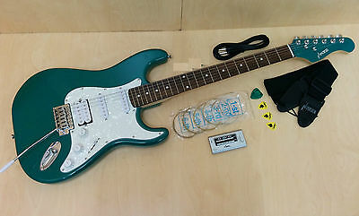 Haze E-211MLBL Solid Body electric guitar,Green w/Free gig bag+accessories