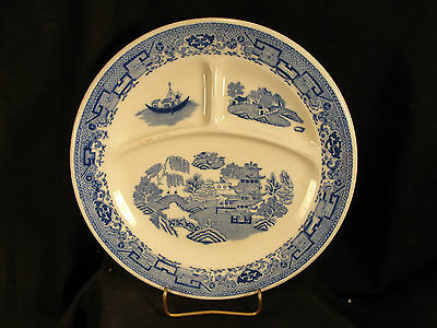 Divided Plate McNicols China Blue Willow