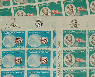 PANAMA 1966 SPACE JULES VERNE MINT FULL SHEETS 50 stamps