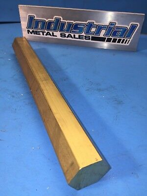 "1-1/4"" x 12""-Long 360 Brass Hex Bar-->1.250"" 360 Brass Hexagonal Bar"