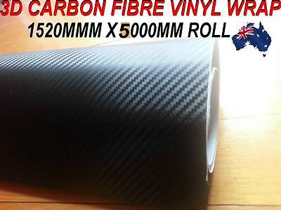OZ excellent 3D Carbon Fibre Car Vinyl Wrap Sticker1.52 X 5 metre, squegee free