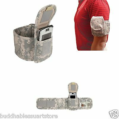 ACU Digital Camo Arm Wallet Cell Phone Carrier Running Fitness Sports
