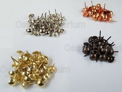 Upholstery Nails Tacks Choose Qty Brass Or Antique 10Mm Head Free P&p