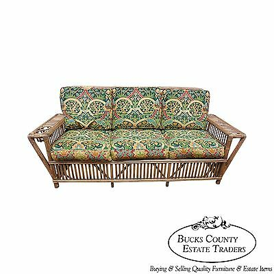 Palecek Genuine Split Reed Rattan Bamboo Long Sofa