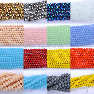 20 & 100pcs Top Quality Czech Crystal Faceted Rondelle Spacer Beads 6MM 8MM 10MM