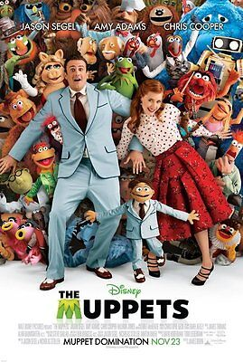 THE MUPPETS MOVIE POSTER 2 Sided ORIGINAL FINAL 27x40 JASON SEGEL