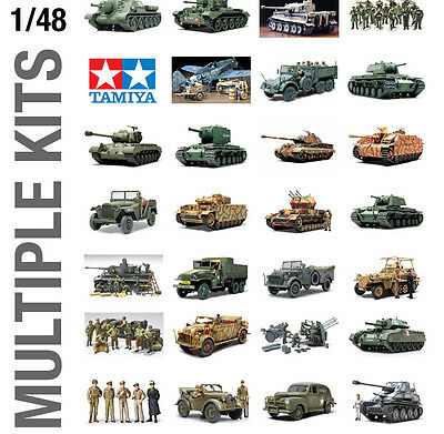 TAMIYA 1/48th MINIATURE MILITARY ARMY PLASTIC MODEL KIT BUILD YOURSELF