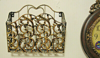 Antique Looking  Wall Mountable Matel Magazine / News Paper Rack Holder