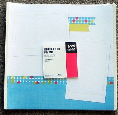 AHNI & ZOE BY CREATIVE MEMORIES TRUE 12x12 ANNIE GET YOUR GUMBALL PAGES