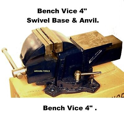 VICE 100mm BENCH TYPE SWIVEL BASE AND ANVIL- NEW IN BOX