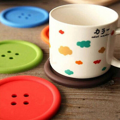 Giant Silicone Button Coasters Tea Cup Mug Drinks Table Placemat Place Mat Glass