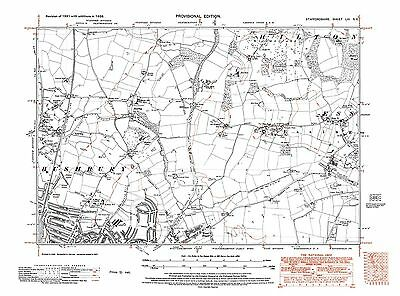 Old Map of Wednesbury Staffordshire Repro 68 NW in 1938