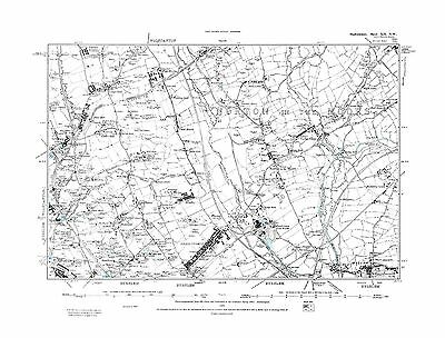 Old Map of Norton in the Moors, Smallthorne, Milton, Staffs in 1889- Repro 12 NW