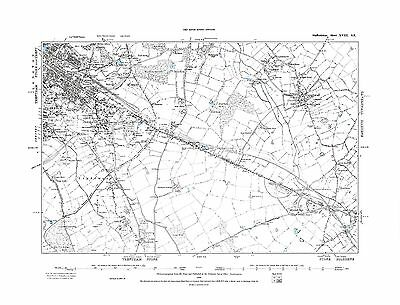 Old Map of Stoke upon Trent ( E ), Caverswall,  Staffs  in 1889- Repro 18 SE